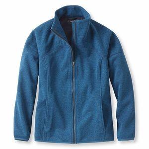 L.L.Bean Windproof Sweater Fleece Jacket Zip Front